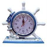 Оригинальные часы Штурвал настольные, фото 3