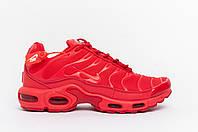 Мужские кроссовки  Nike Air Max Tn+ красные (копия)