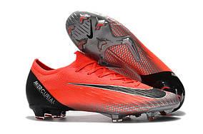 Бутсы Nike Mercurial Vapor Elite XII FG CR7 pink