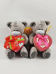 Мягкая игрушка мишка Тедди с коробочкой для подарка