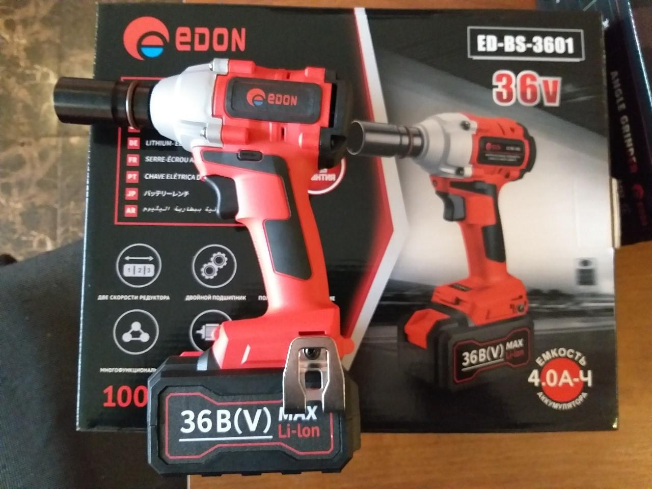 Аккумуляторный гайковерт  Edon ED-BS-3601