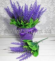 Веточка лаванды, 28 см,  цвет фиолетовый