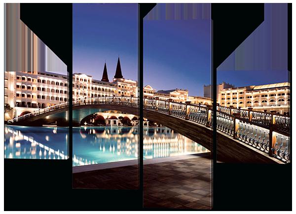 Модульная картина Interno Эко кожа Мост в Турции 166x123см (A369XL)