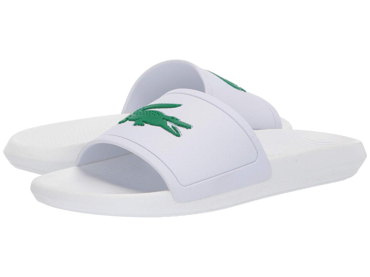 Сандали/Вьетнамки (Оригинал) Lacoste Croco Slide 119 1 White/Green