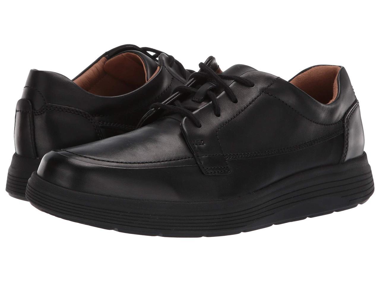 Clarks Un Abode Ease Black Leather