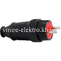 Вилка электрическая с заземлением (каучук) 16 А Fetih F 201 К