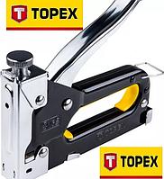Степлер с регулировкой силы удара TOPEX, фото 1