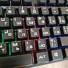 Клавиатура с цветной подсветкой USB UKC HK-6300 для ПК, фото 3