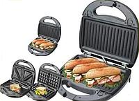 ГРИЛЬ Wimpex австрия 3в1 бутербродница гриль, вафельница, фото 1