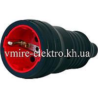 Гнездо электрическое с заземлением (каучук) 16 А Fetih F 202 К