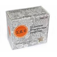 Салфетки тканевые безворсовые LZX, средняя упаковка 80 шт.