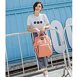 Сумка-рюкзак для мам LeQueen. Розовый Vsem, фото 2