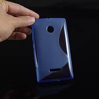 Чехол накладка бампер для Microsoft Lumia 435 синий