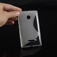 Чехол накладка бампер для Microsoft Lumia 435 матово/прозрачный