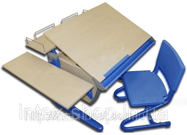 Внимание ! ! ! Детская стол-парта(ортопед) Дэми СУТ.12-02 (14-02) +стул Деми СУТ 01. клен / синий.