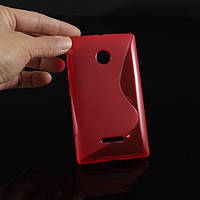 Чехол накладка бампер для Microsoft Lumia 435 красный