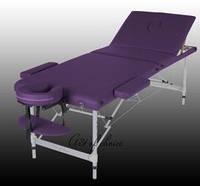 Складной массажный стол  JOY трехсекционный алюминиевый, Массажный стол JOY