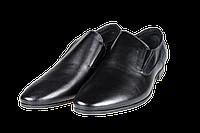 Мужские классические кожаные туфли  intershoes 15v063 черные   весенние