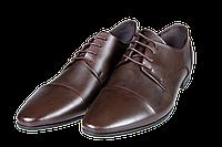 Мужские классические кожаные туфли  intershoes 15v066 коричневые   весенние , фото 1