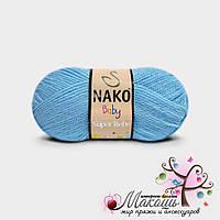 Детская пряжа Super bebe Супер бэби Нако, №214, голубой