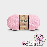 Детская пряжа Super bebe Супер бэби Нако, №23069, розовый