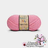 Детская пряжа Super bebe Супер бэби Нако, №4430, розовый