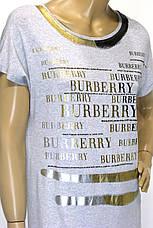 Футболка  жіноча з принтом Burberry , фото 2