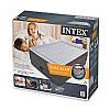 Двуспальная надувная кровать Intex 64418 203х152х56 см велюровая со встроенным насосом 220V/В, фото 2