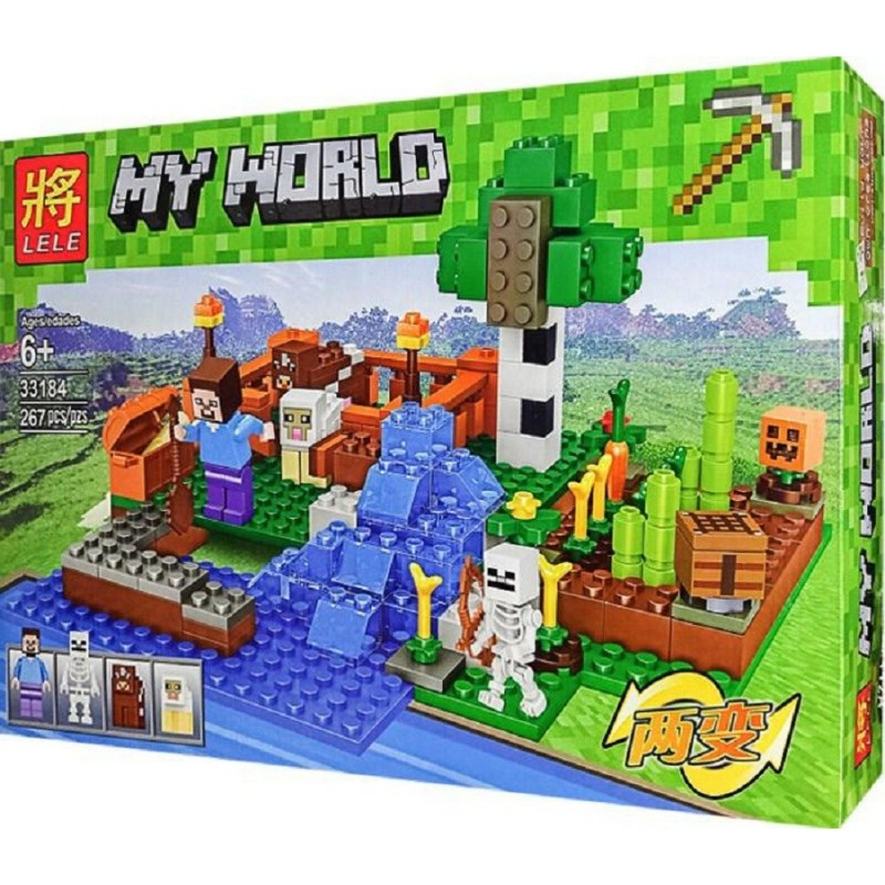 "Конструктор Minecraft ""Ферма с водопадом"" Lele 33184 267 деталей"