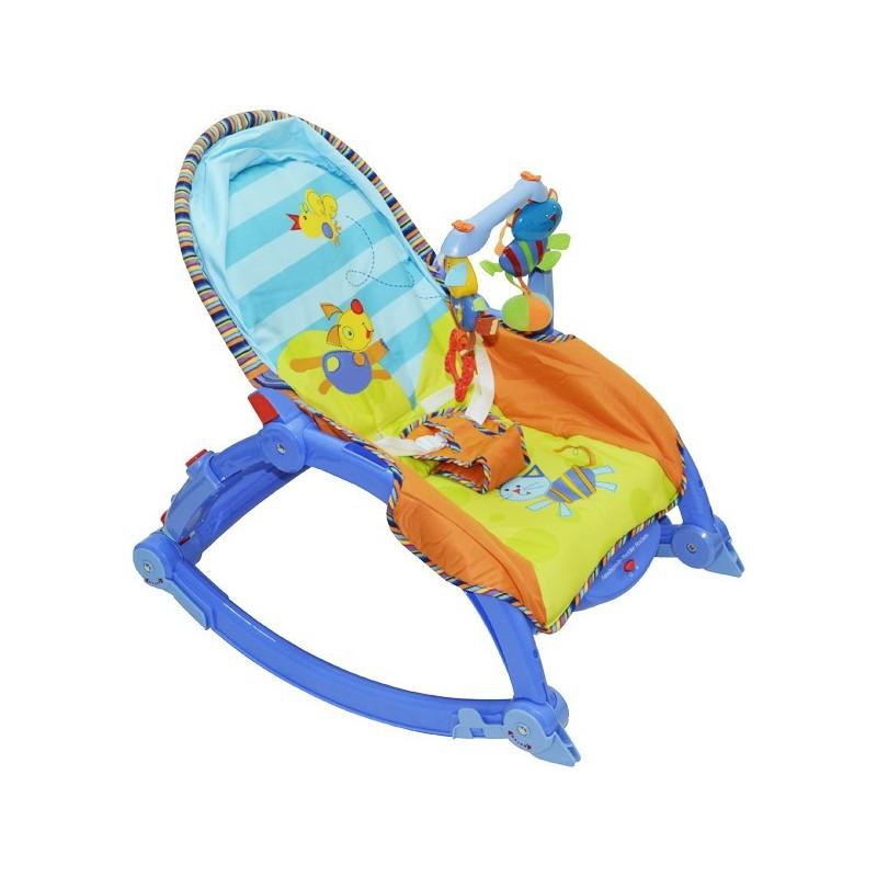 Детский шезлонг PLAY SMART 7179 0-11 кг с вибрацией и мелодиями