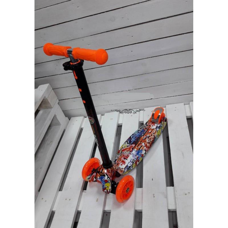 Самокат кикборд Maxi Best Scooter А 24645/779-1389 со светящимися колесами