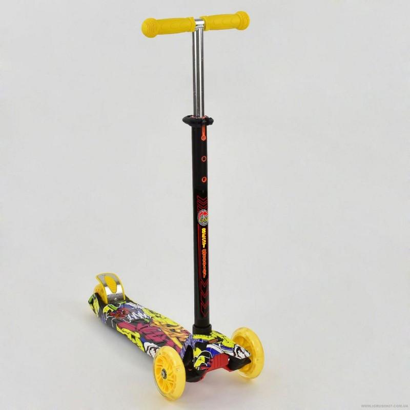 Самокат кикборд Maxi Best Scooter А 24650/779-1394 со светящимися колесами