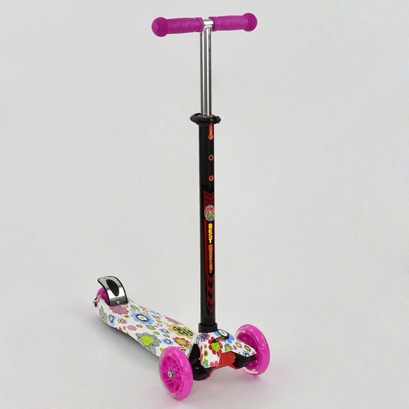 Самокат кикборд Maxi Best Scooter А 24660/779-1309 со светящимися колесами