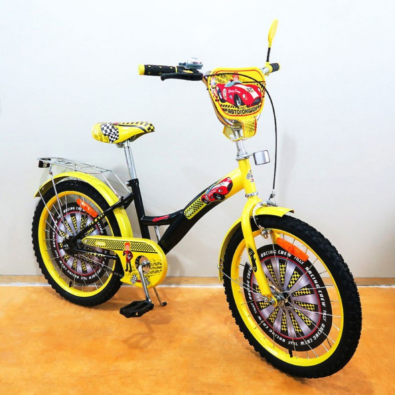 Велосипед TILLY Автогонщик 20 T-220212 black + yellow