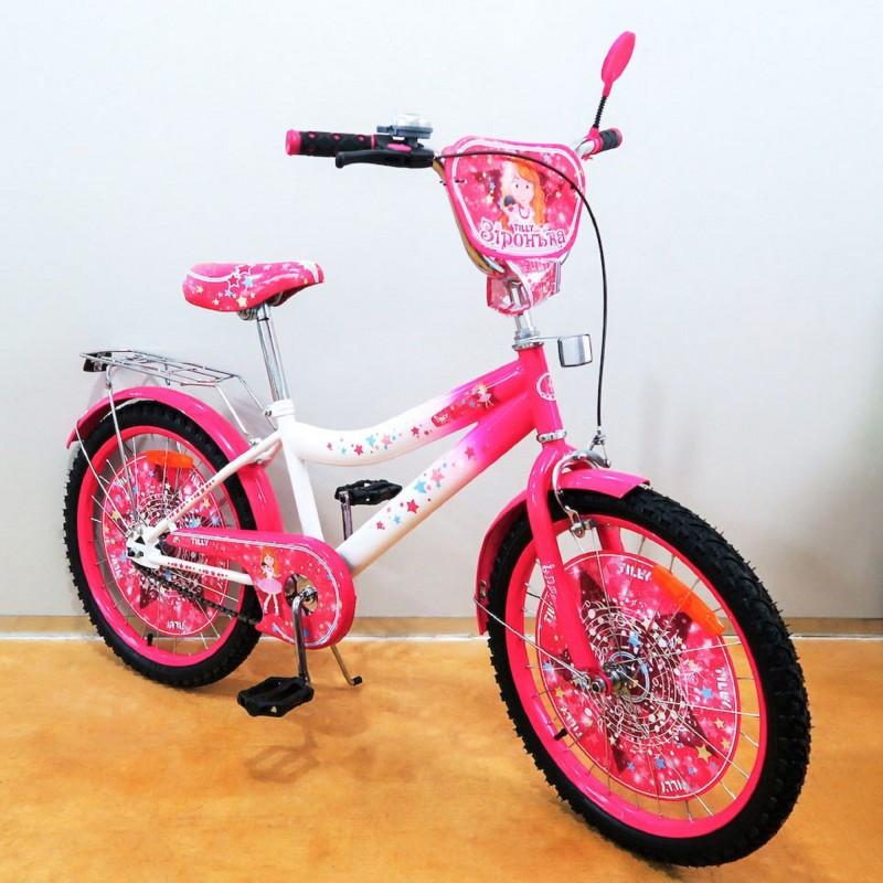 Велосипед TILLY Зіронька 16 T-216214 crimson + white