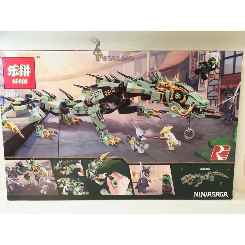 """Конструктор """"Механический Дракон Зеленого Ниндзя"""" Ninjago Lepin 06051 592 деталей"""
