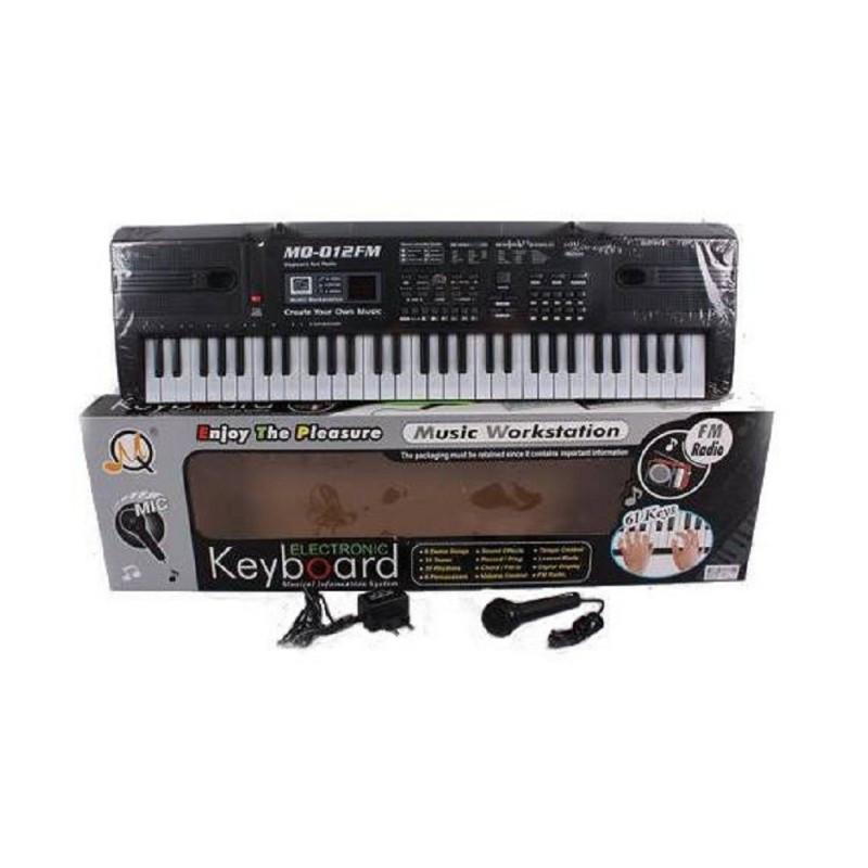 Детский музыкальный синтезатор MQ012 пианино с микрофоном