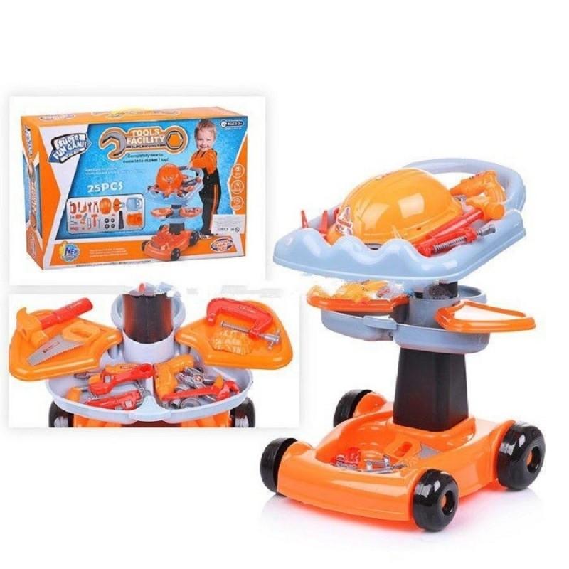 Набор детских инструментов с тележкой 36778-50 25 деталей