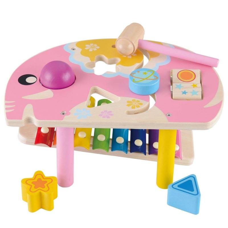 Столик в виде слоника и ксилофон бизиборд