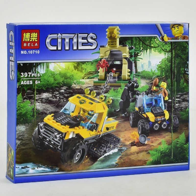 """Конструктор """"2 вездеходных автомобиля и древние постройки"""" Cities 10710 397 деталей"""