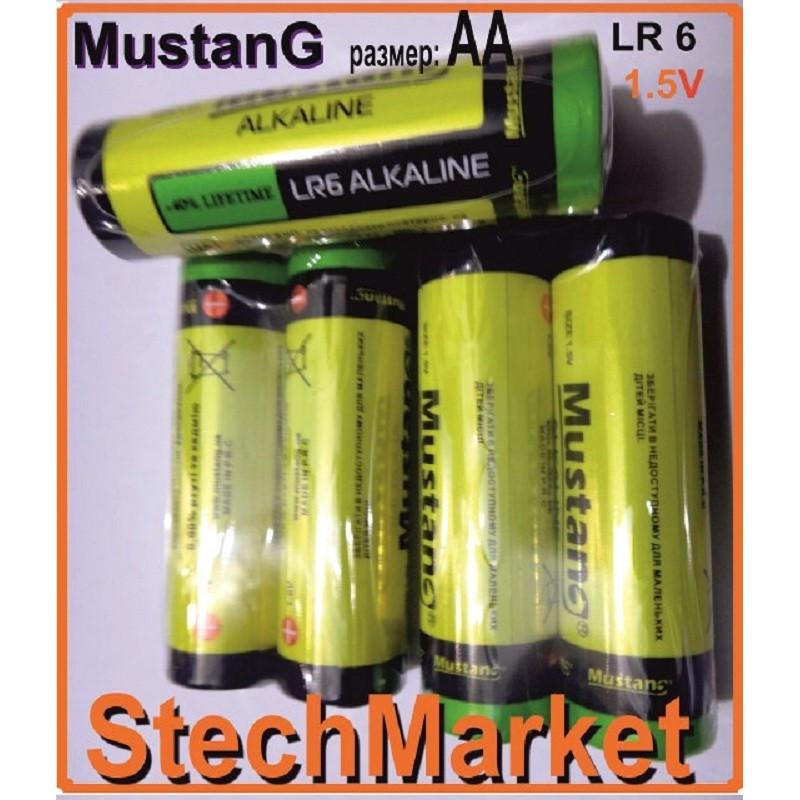 Батарейки Mustang Alkaline AA LR6 1.5v 2шт