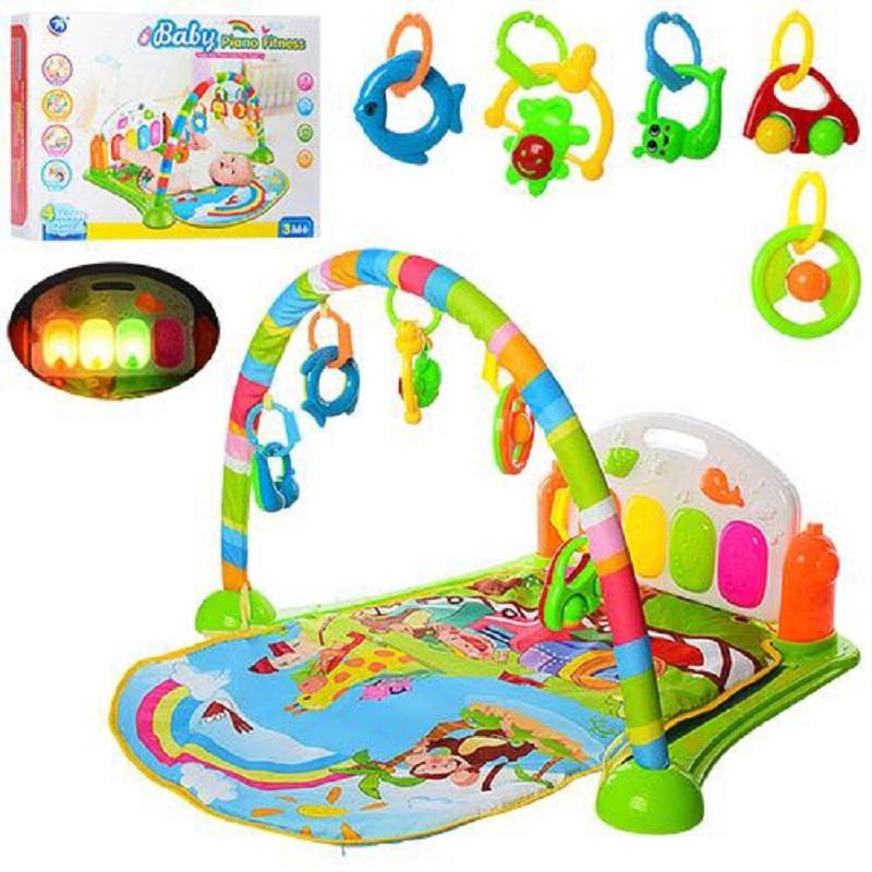 Детский музыкальный коврик 6016-2 для младенца 74х53см