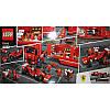 "Конструктор ""Speed Champions Ferrari F14 и грузовик-трейлер Scuderia Ferrari"" Lepin 21010 914 деталей, фото 2"