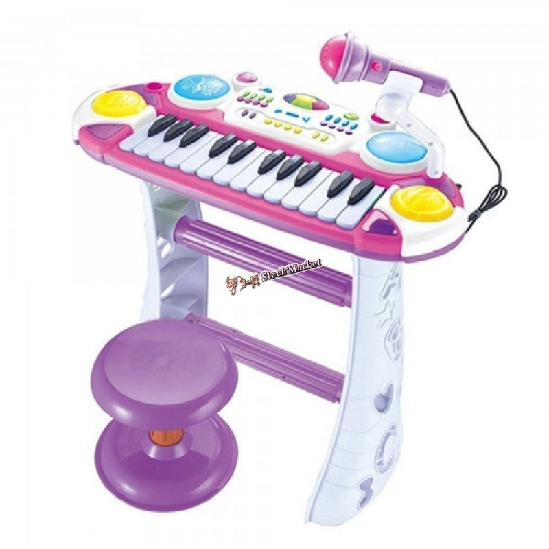 Пианино Joy Toy 7235 розовое на подставке