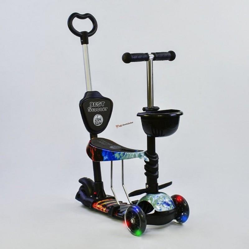 """Самокат """"Абстракция"""" Best Scooter 5 в 1 21500 с подсветкой колес"""
