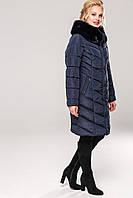 Короткое женское зимнее пальто  с мехом