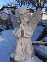 Скульптуры ангелов на кладбище из литьевого мрамора