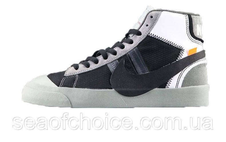 cb94cb08d5c3 Мужские кеды Nike Blazer Mid x Off White Grey