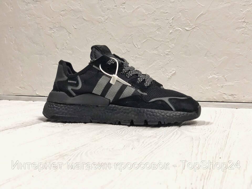 bfc00460 Кроссовки мужские Adidas Nite Jogger Black (реплика А+++ ) - Интернет  магазин