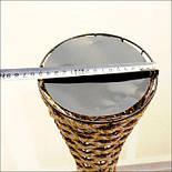 Напольная плетеная ваза из роганта, фото 2